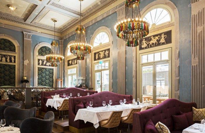 lamparas restaurante razzia zurich interior restaurantes de diseño en suiza mejor decorados