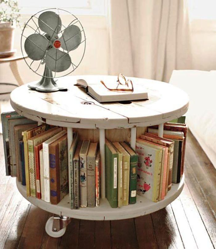 mueble circular de libros