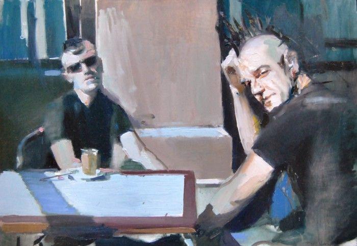 obra paisajes urbanos pintor segoviano Alberto David Fernandez Hurtado cuadro punks