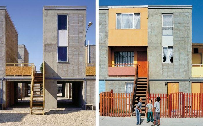 quinta monroy arquitectura social viviendas ampliables chile concepcion arquitecto alejandro aravena chileno chile premio pritzker 2016 antes y despues