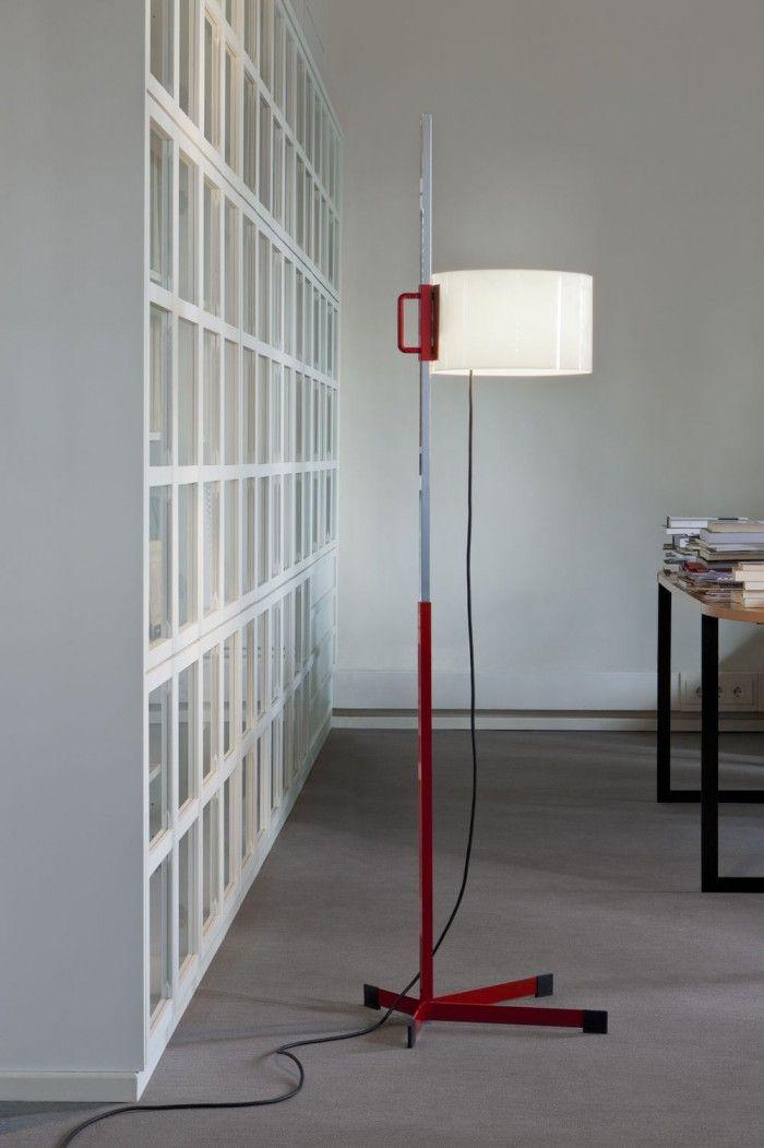 lampara tmc miguel mila roja altura regulable pantalla blanca diseno espanol barcelona santa cole