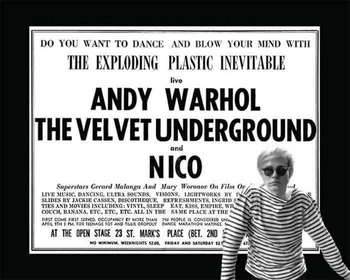cartel andy warhol the velvet underground and nico fotografia the exploding plastic inevitable