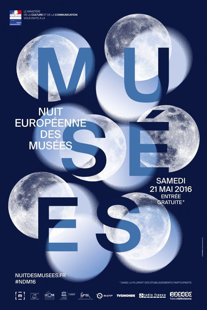 cartel noche europea de los museos espana espanol