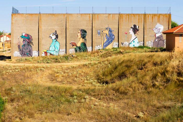 graffiti procesion de parsec castrogonzalo zamora street art espana