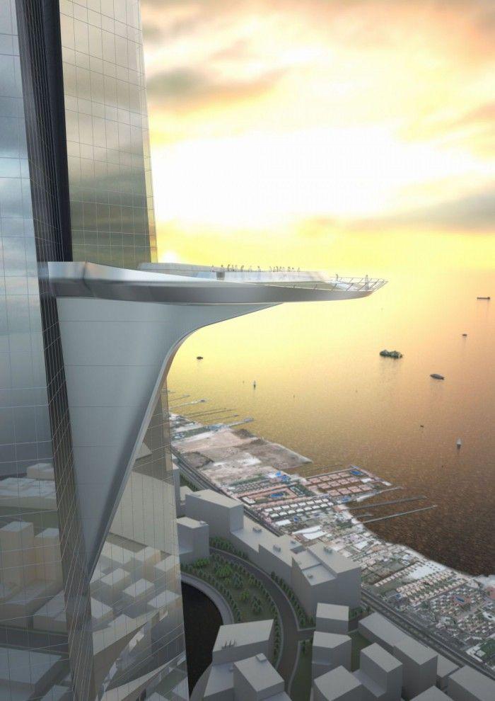 edificios soprendentes kingdom torre jeddah edificio mas alto del mundo futuro mil metros un kilometro altura rascacielos