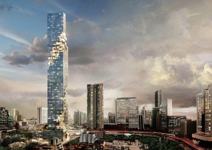 edificios soprendentes maha nakhon bangkok tailandia rascacielos pixelado pixeles edificio sorprendente