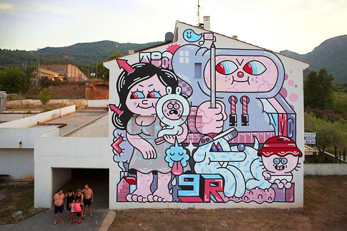 miau fanzara mural festival street art arte urbano rural callejero pueblo castellon graffiti