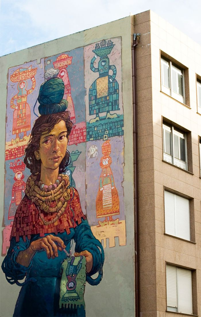 mural rexenera fest carballo graffiti street art arte urbano rural pueblo galicia