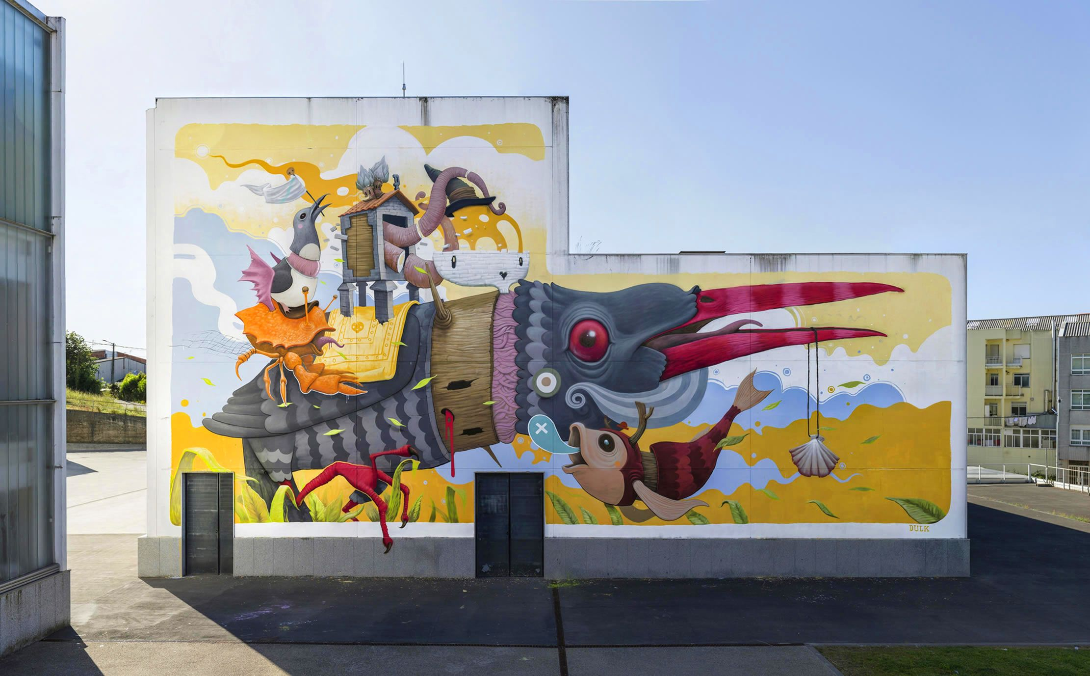 mural rexenera fest auditorio carballo graffiti street art arte urbano rural pueblo galicia