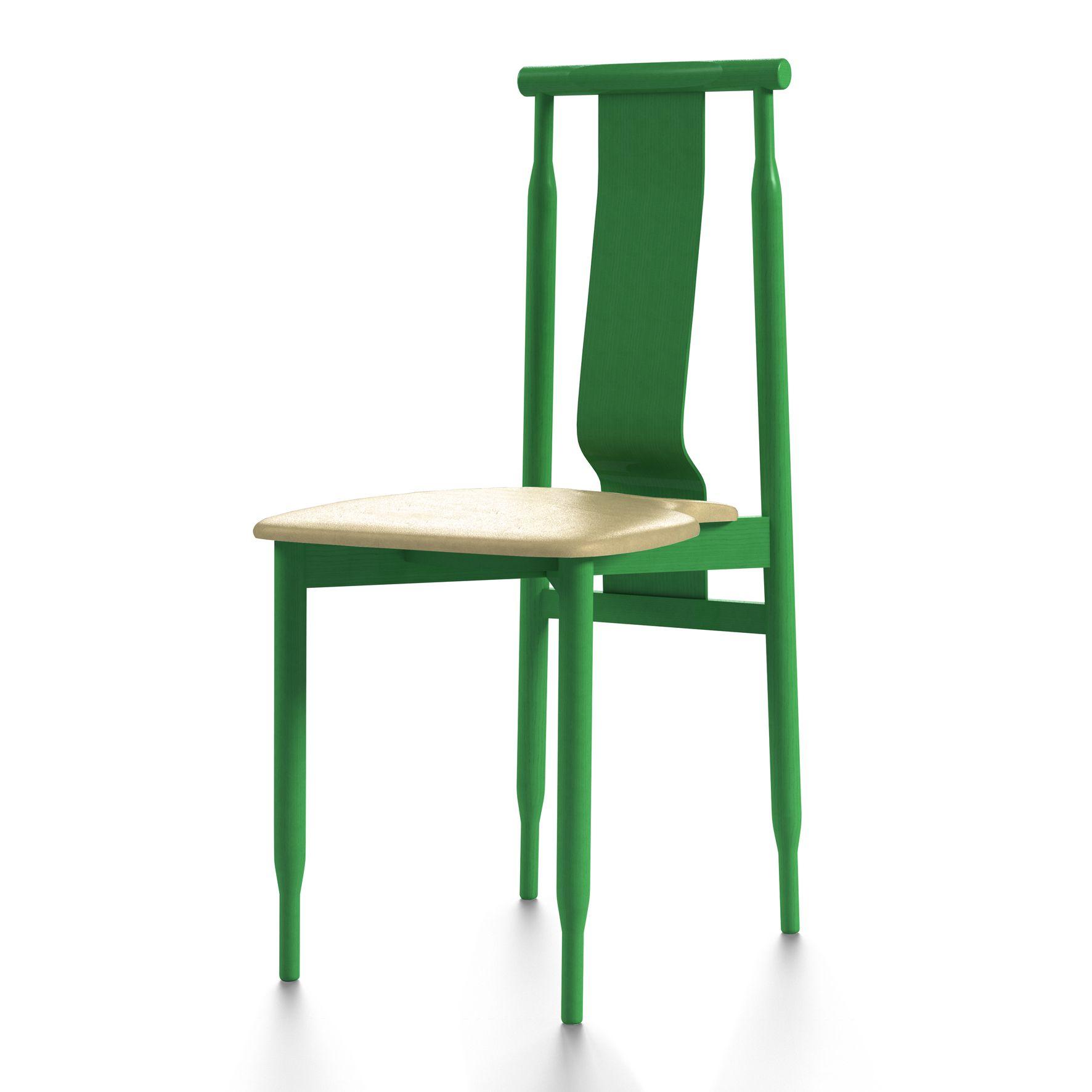 silla lierne de achille castiglioni en verde opaco