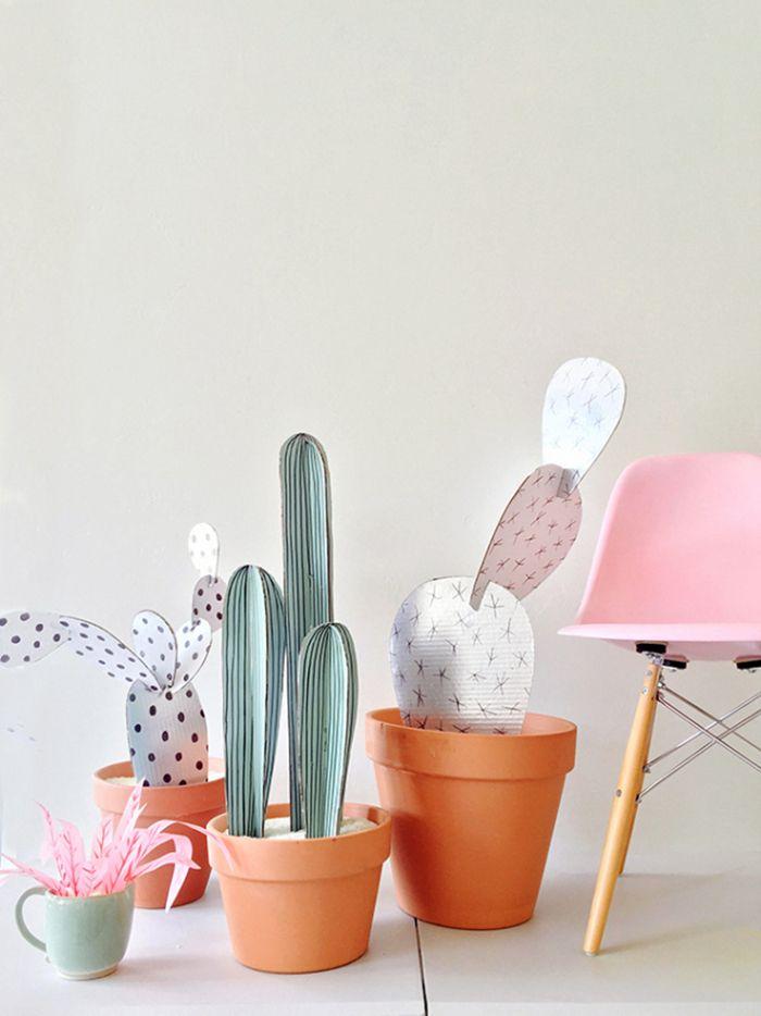 DIY cactus de carton