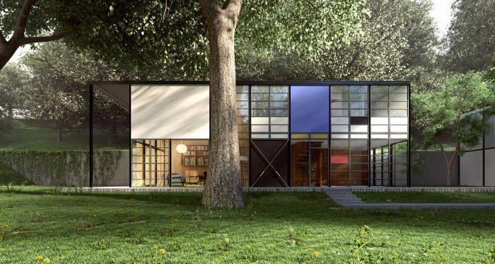 casa eames house los angeles charles y ray pareja de arquitectos vivienda moderna
