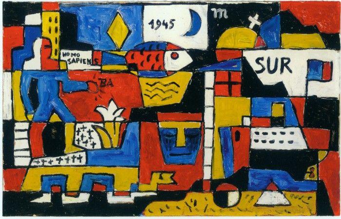 cuadro del pintor joaquin torres garcia un moderno en la arcadia espacio fundacion telefonica artista uruguayo moderno