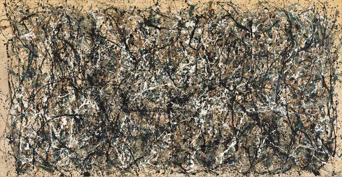 cuadro jackson pollock action painting expresionismo abstracto gotas de pintura