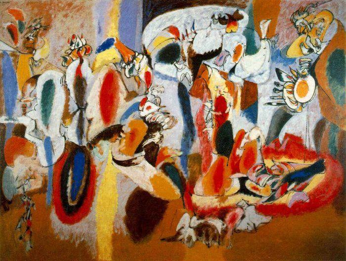 cuadro pintura ashley gorky expresionismo abstracto action painting pintor nueva york anos 40