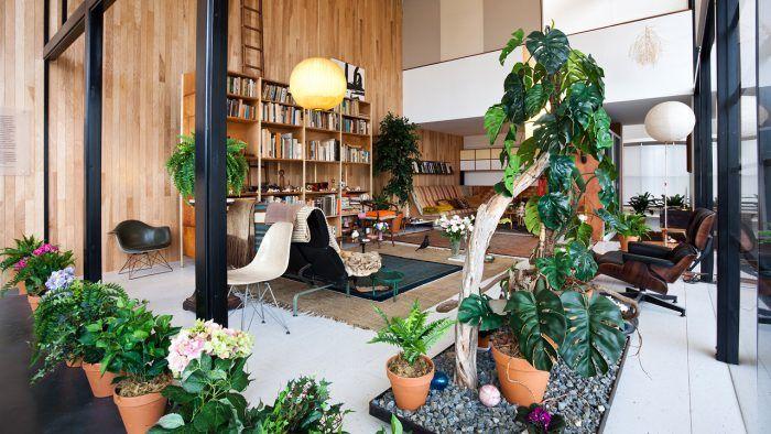 interior casa eames house los angeles charles y ray pareja de arquitectos vivienda moderna