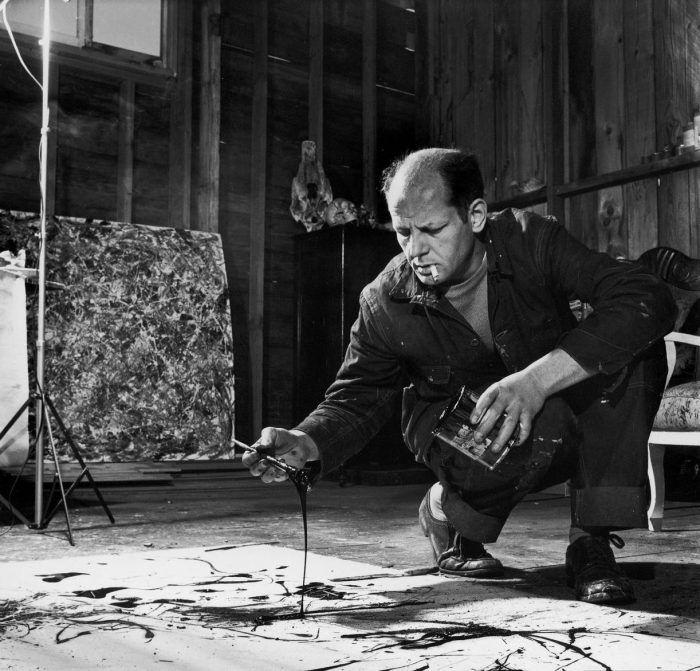 jackson pollock retrato como pintaba pintura pintando action painting expresionismo abstracto escuela de nueva york