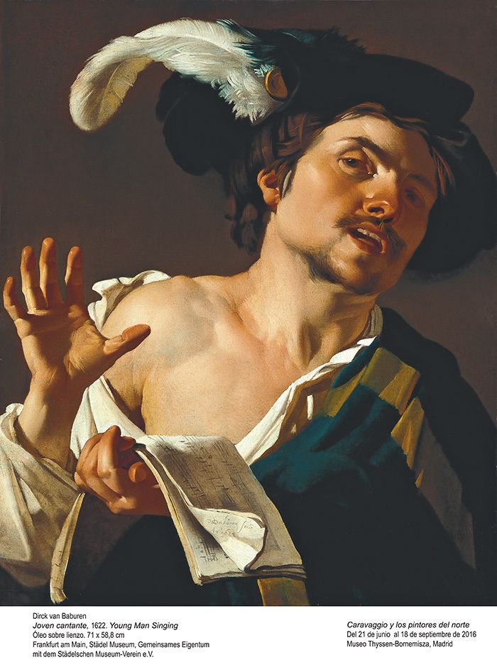 Singender junger Mann. 1622