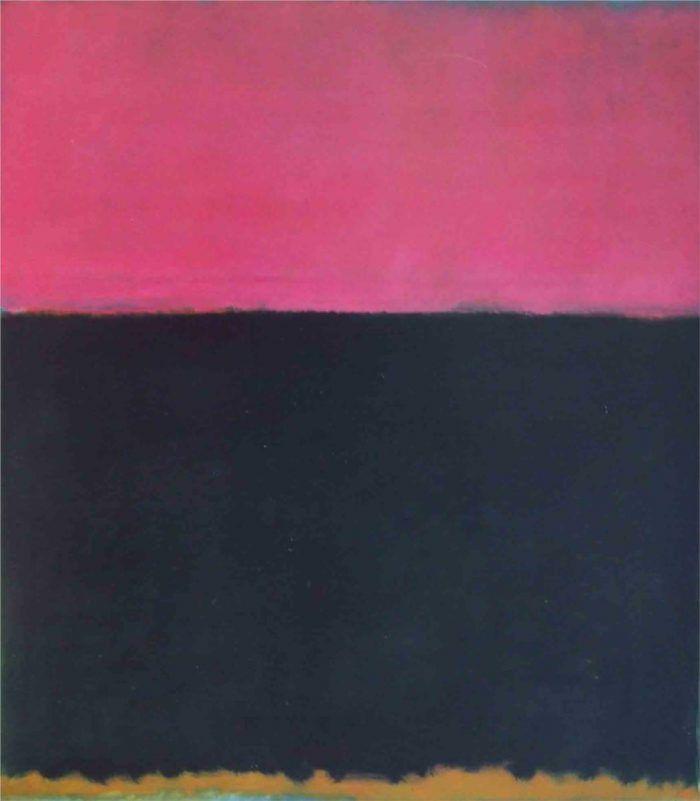 obras de mark rothko pintura de colores rosa negro expresionismo abstracto