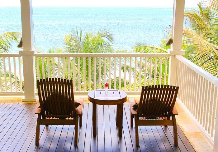 terraza con vistas casa verano