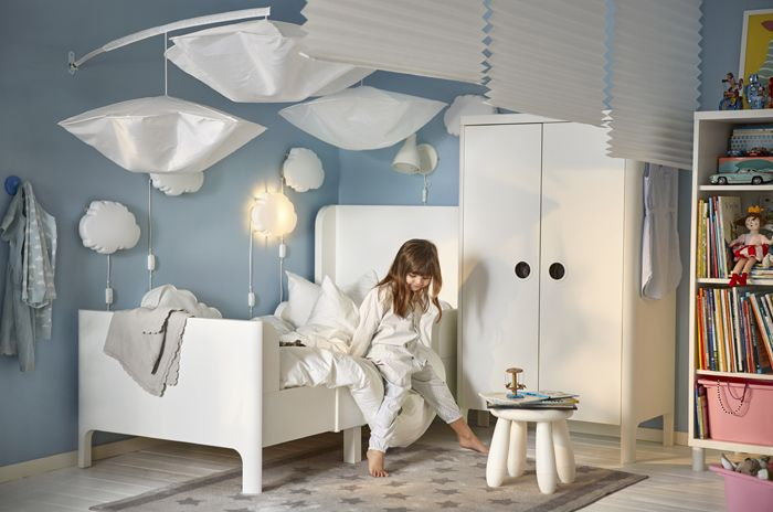 dormitorio blanco niños catalogo IKEA 2017