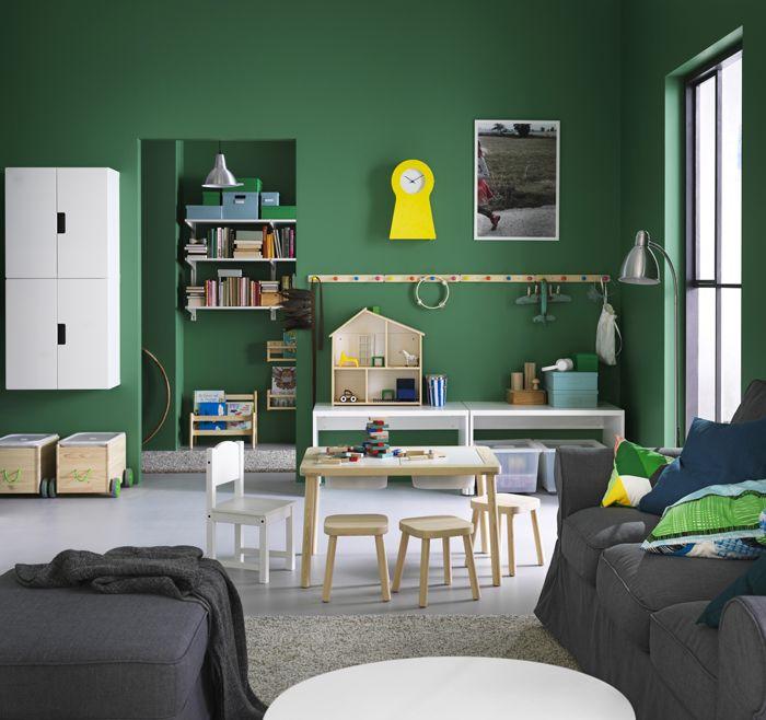 habitacion verde niños catalogo IKEA 2017