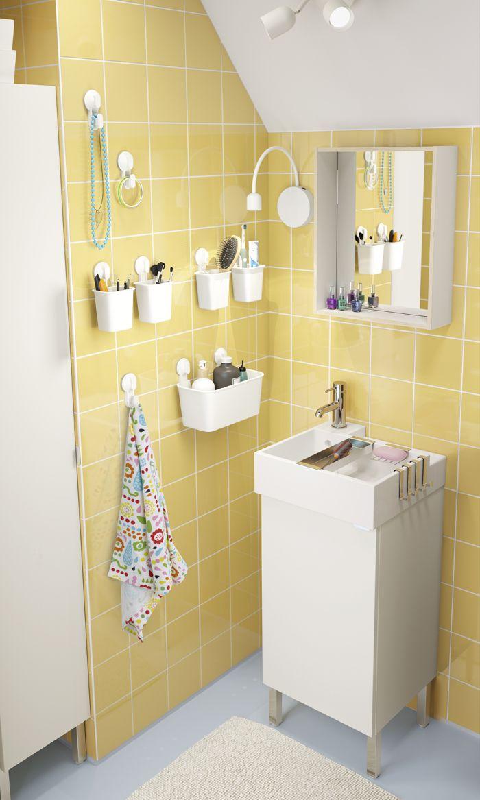 baño azulejo amarillo catalogo IKEA 2017