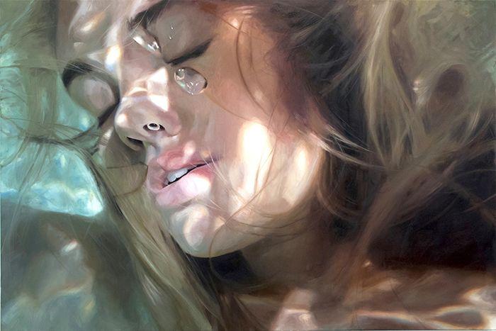 Aqua, la nueva obra hiperrealista de Reisha Perlmutter