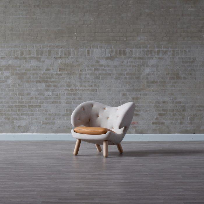 silla pelican color blanco pelicano diseno danes finn juhl anos 40 retro escandinavo