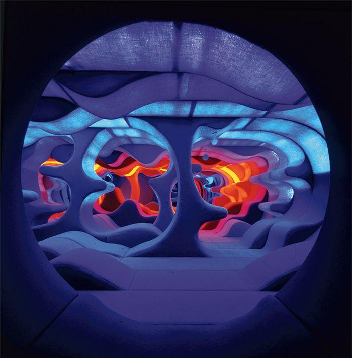 verner panton purple room habitacion morada violeta visiona 1970 disenador danes curvas anos setenta psicodelico