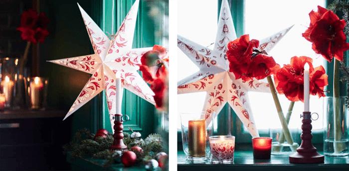 estrellas papel navidad IKEA 2016 2017