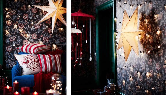 lamparas papel estrella navidad IKEA 2016 2017