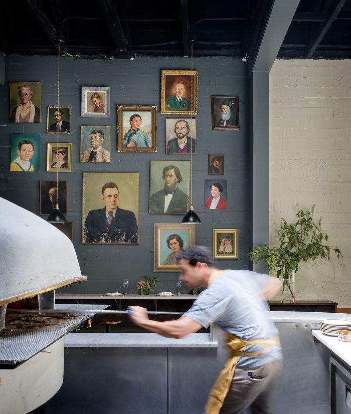 retratos pared y horno