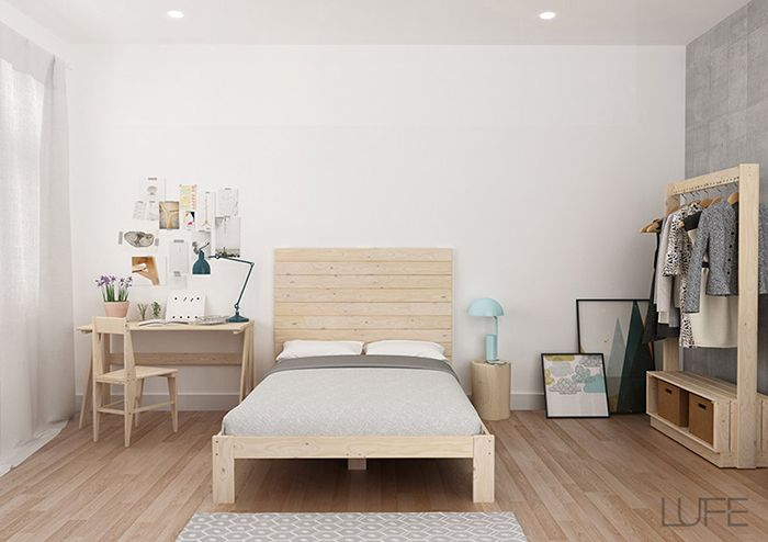 cama doble silla mesa