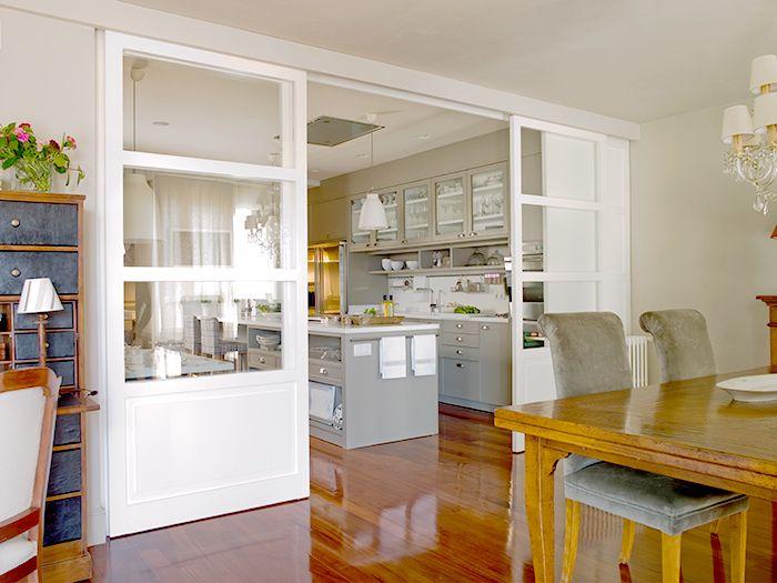 puertas blancas cristal cocina deulonder
