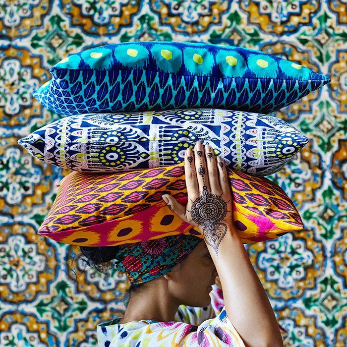 coloridos cojines ikea edicion jassa