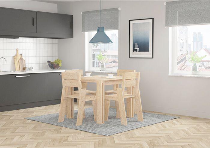 sillas mesa cocina lufe muebles madera