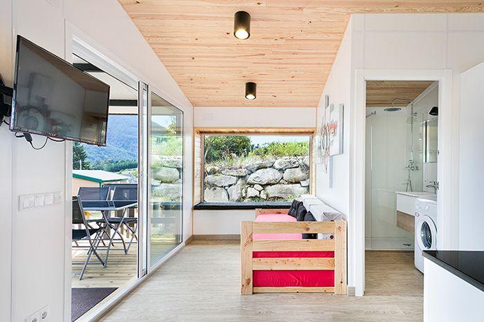 camping bungalow cama nido