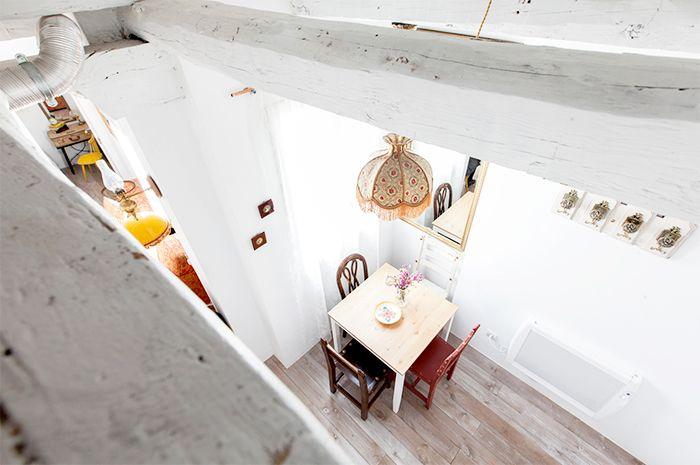 apartamento malasaña salon vista buhardilla