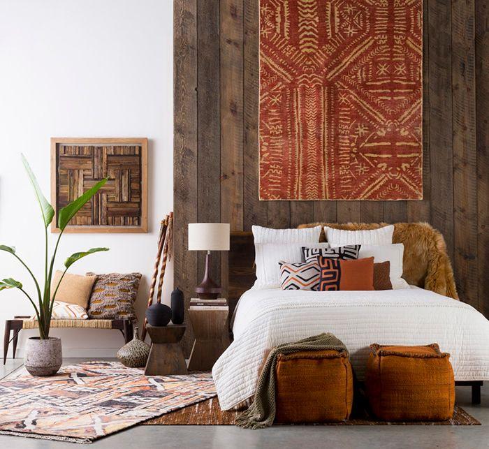 decoracion telas cama cojin