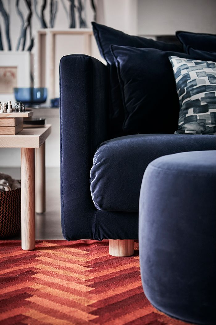 sofa azul marino ikea stockholm