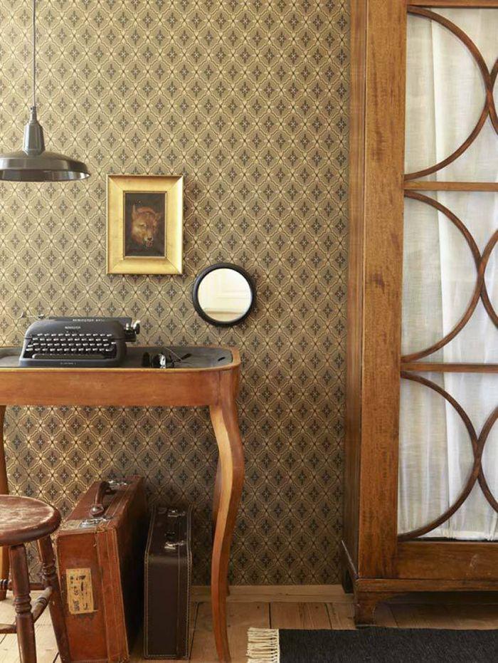 Papeles de pared retro para oto o en nuestro hogar moove for Papel pintado tonos marrones