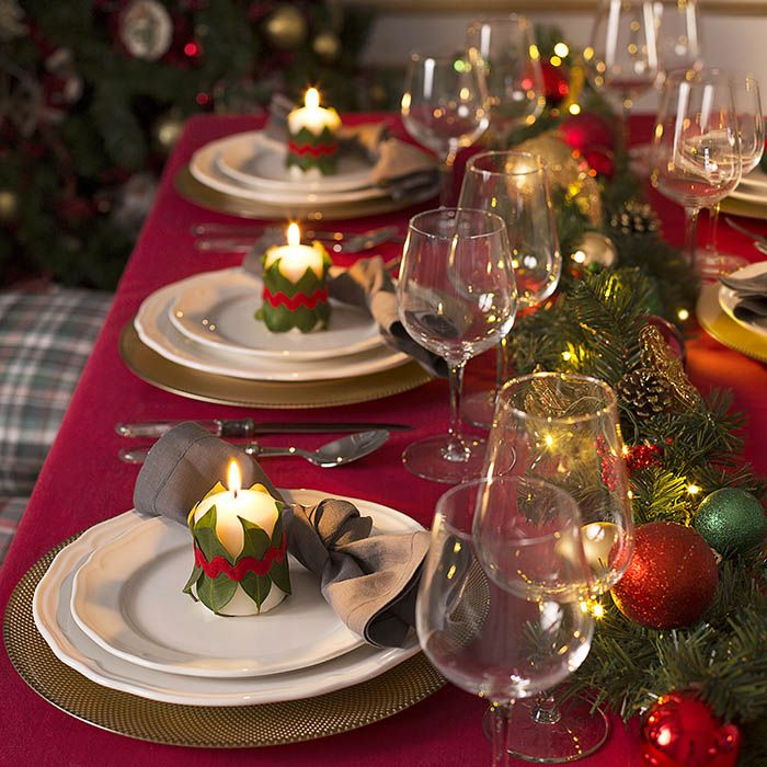 Diy de decoraci n para crear mesas de navidad con - Como poner la mesa en navidad ...