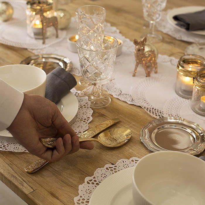 Diy de decoraci n para crear mesas de navidad con - Mesa de navidad elegante ...