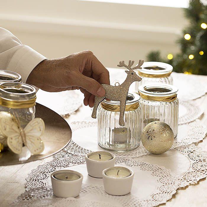 Diy de decoraci n para crear mesas de navidad con for Vajillas para navidad