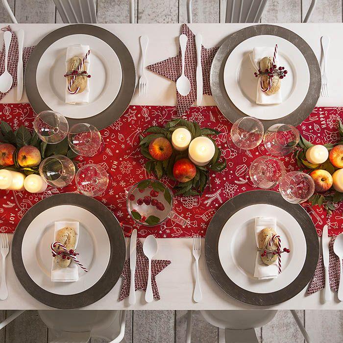mesa navideña estilo nordico