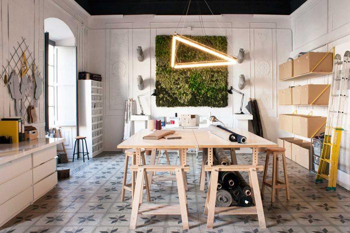 Decoraci n de cinco espacios de trabajo de freelance y for Decoracion de espacios de trabajo