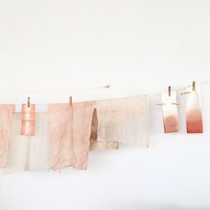 trapos con tintados naturales rosa nude difuminado