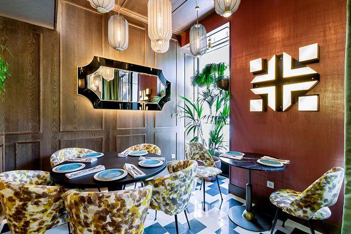 rincon de sala en restaurante hindu madrid