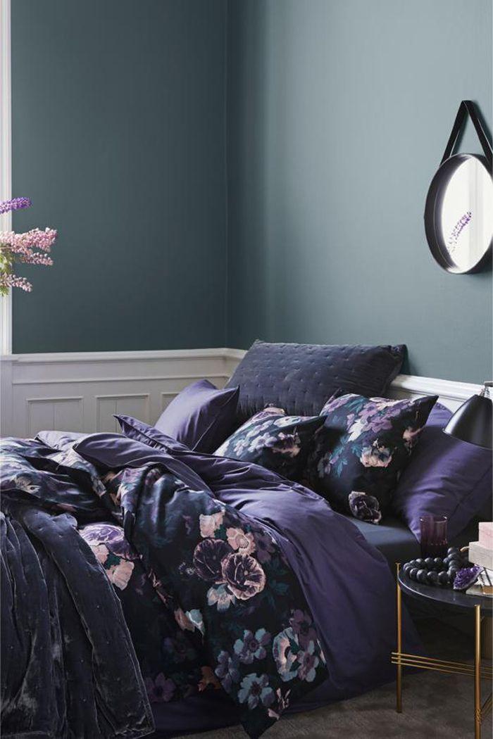 diseño en purpuras ropa de cama